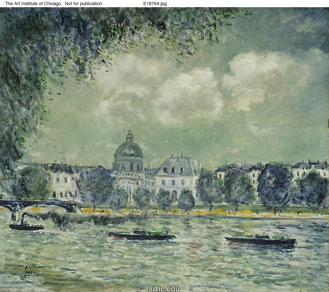 The Seine with the Institute of France, c.1870 - Alfred Sisley