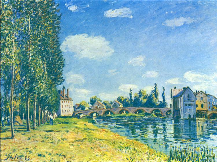 The straw Rent, 1888 - Alfred Sisley