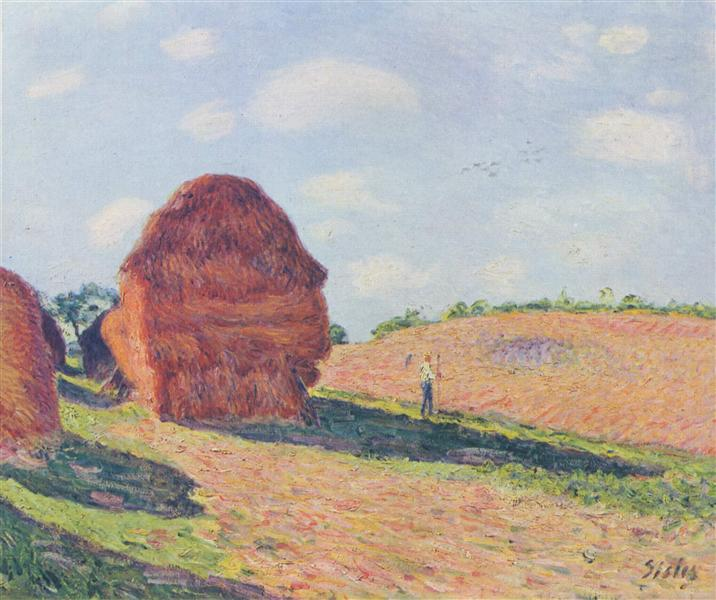 The straw Rent, 1895 - Alfred Sisley