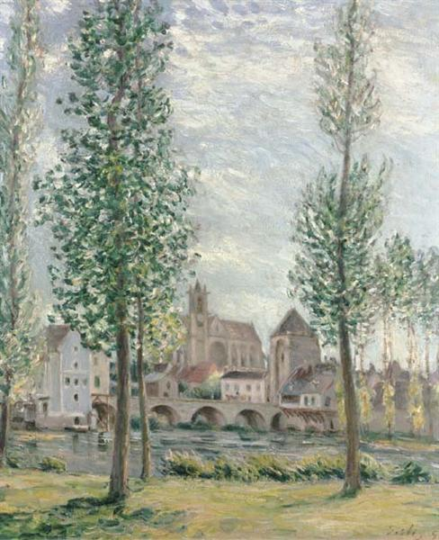 View of Moret sur Loing through the Trees, 1892 - Alfred Sisley