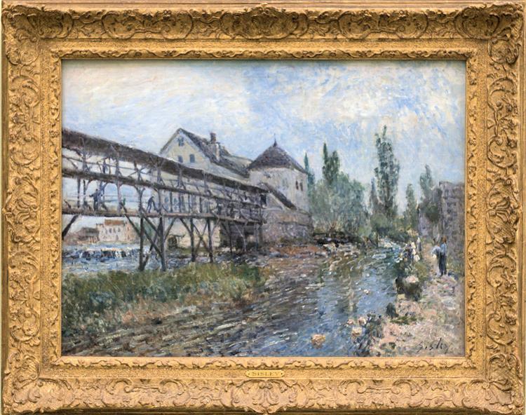 Watermill near Moret by Alfred Sisley - Alfred Sisley