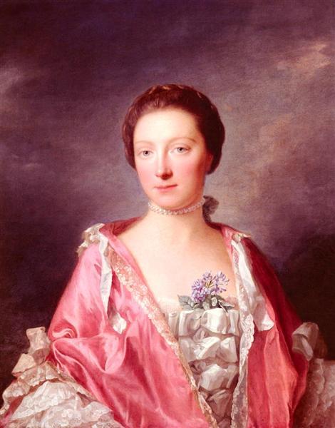 Portrait Of Elizabeth Gunning, Duchess Of Argyll, 1760 - Allan Ramsay