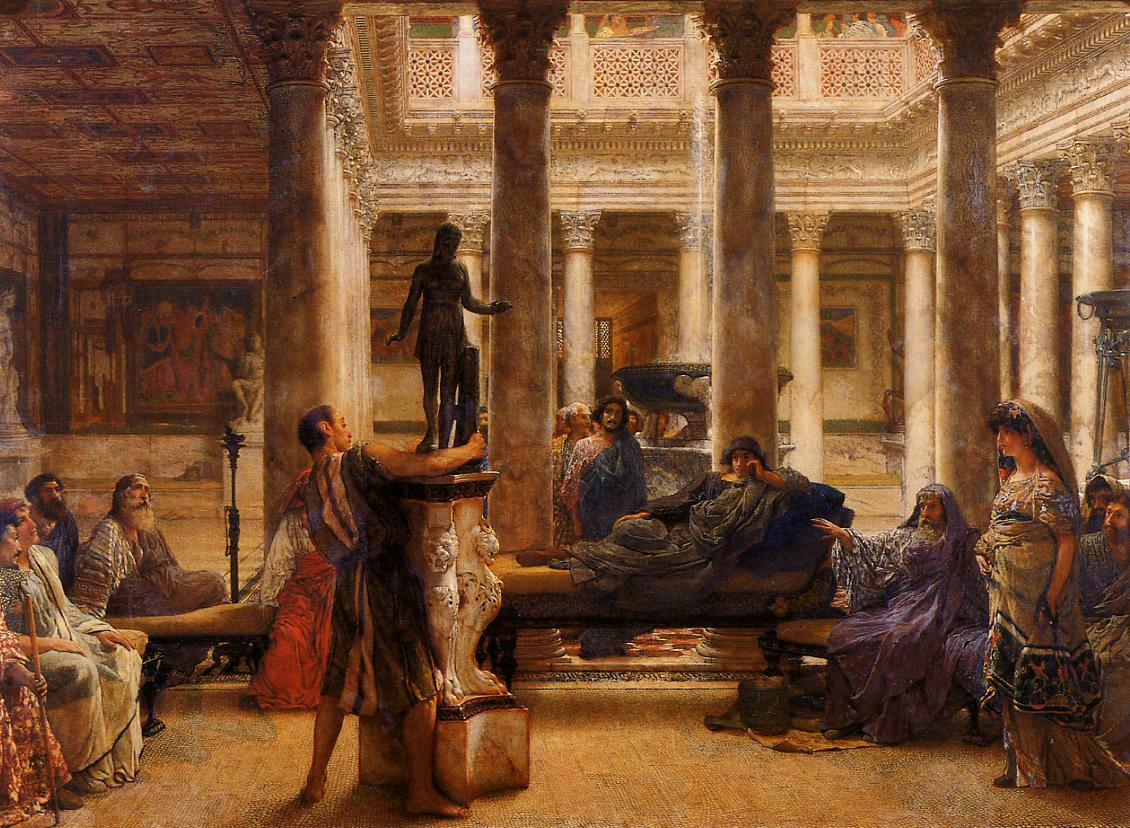 A Roman Art Lover, 1870