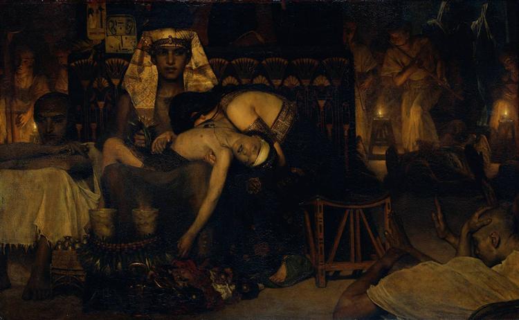 Death of the Pharaoh Firstborn son, 1872 - Lawrence Alma-Tadema