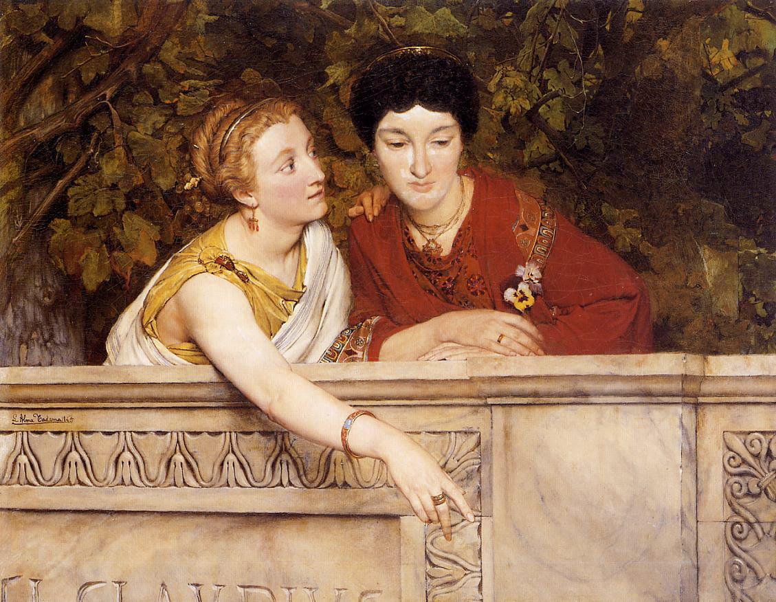 Gallo Roman Women - Sir Lawrence Alma-Tadema - WikiArt.org ...