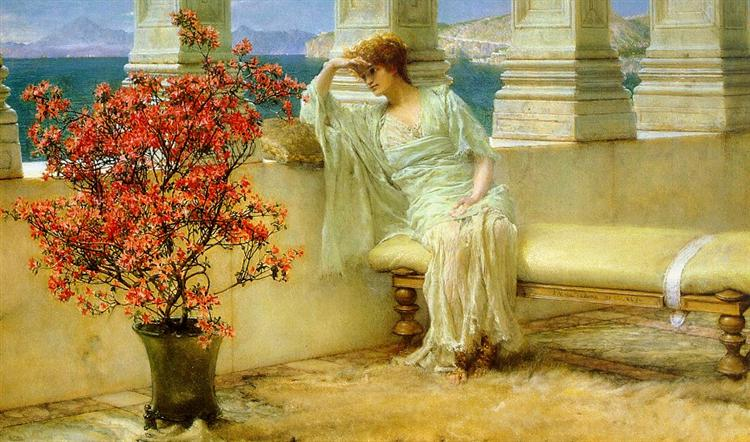 Her Eyes are with Her Thoughts and They are Far Away, 1897 - Sir Lawrence Alma-Tadema