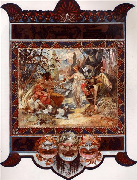 The Judgement of Paris - Alphonse Mucha