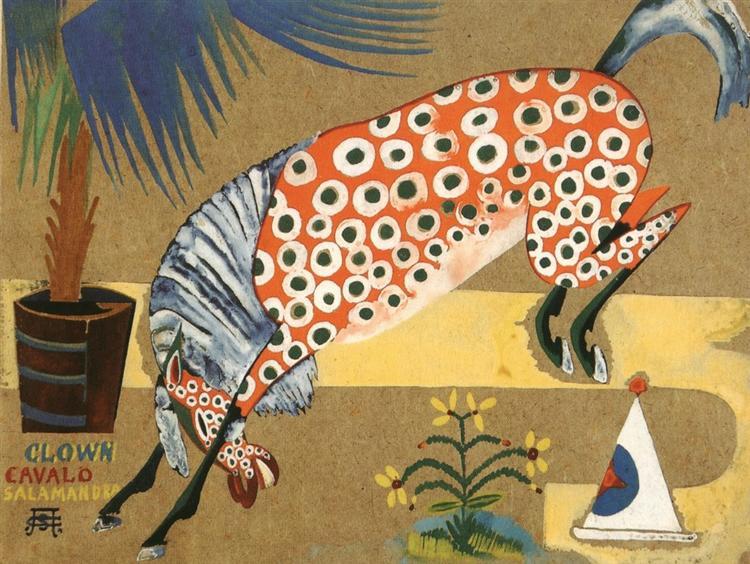 Clown, Horse, Salamandra, 1912 - Amadeo de Souza-Cardoso