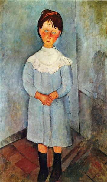 Little girl in blue - Amedeo Modigliani
