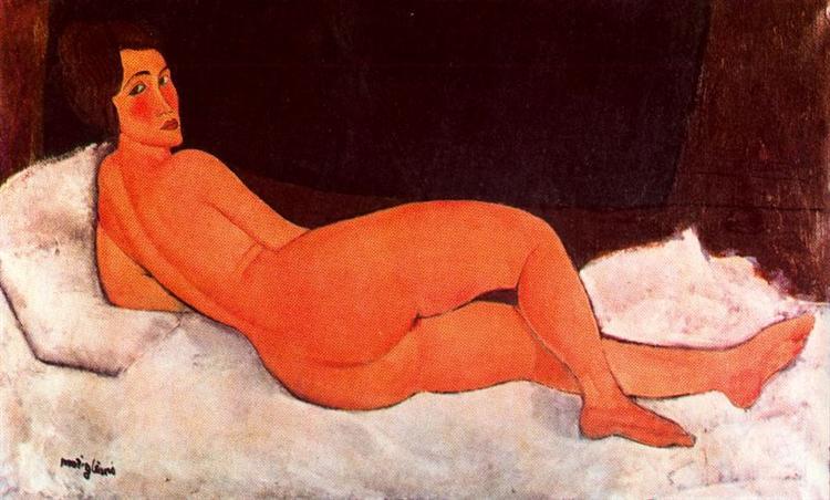 Lying nude, 1917 - Amedeo Modigliani
