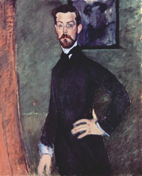 Portrait of Paul Alexander on green background, 1909 - Amedeo Modigliani