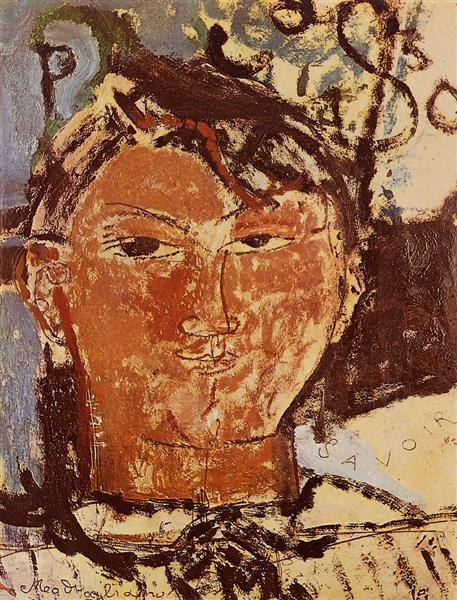 Portrait of Picasso, 1915 - Amedeo Modigliani
