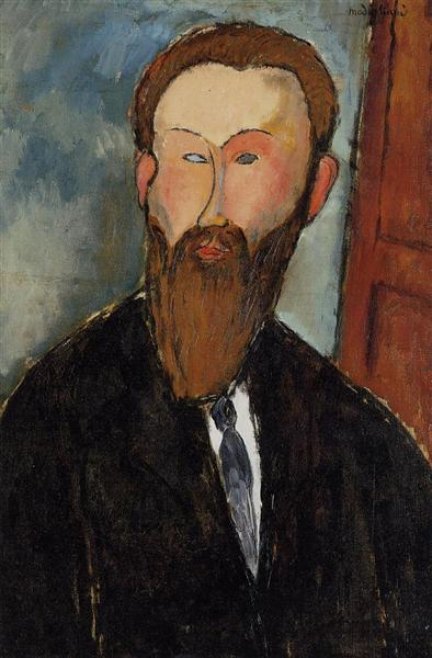 Portrait of the Photographer Dilewski, 1916 - Amedeo Modigliani