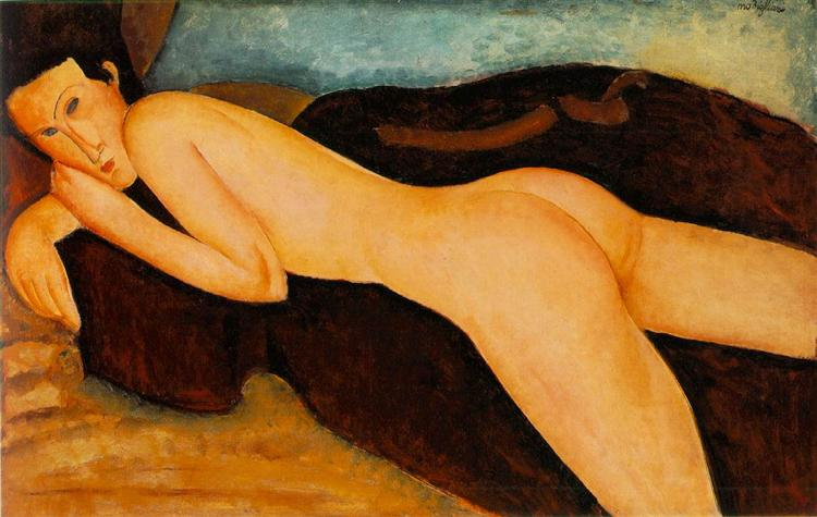 Reclining nude from the Back, 1917 - Amedeo Modigliani