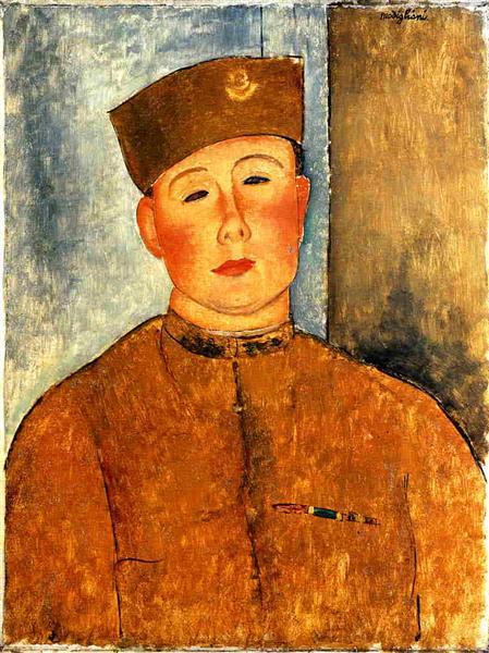 The Zouave, 1918 - Amedeo Modigliani