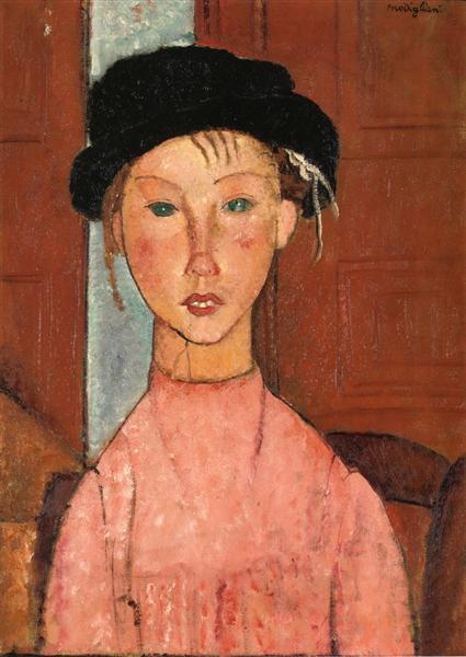 Young Girl in Beret, 1918 - Amedeo Modigliani