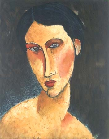 Young Girl with Blue Eyes, c.1917 - Amedeo Modigliani
