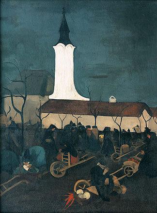 Hungarian Market Scene, 1938 - Amrita Sher-Gil