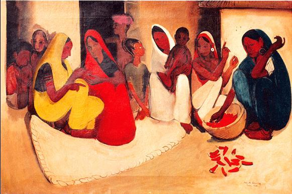 Village Scene, 1938 - Amrita Sher-Gil