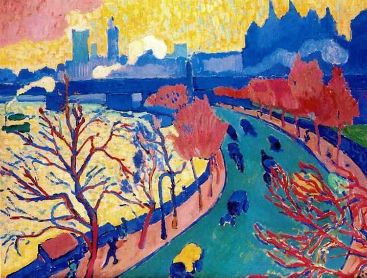 Charing Cross Bridge, c.1906 - Andre Derain