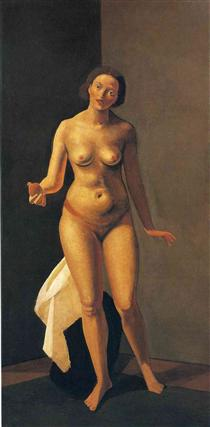 Female nude holding apple - Andre Derain