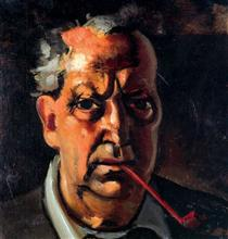 Self-portrait with a pipe - Andre Derain