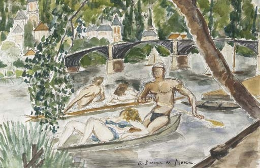 Les canotiers sur la Marne - André Dunoyer de Segonzac
