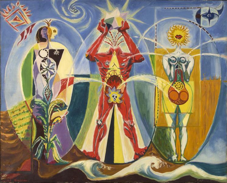 L'homme emblématique, 1939 - Andre Masson