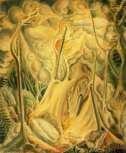 Landscape with Rocks, 1923 - Andre Masson