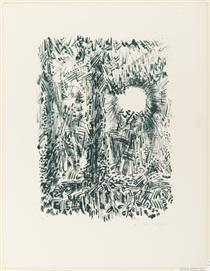 The Sun in the Forest - Andre Masson