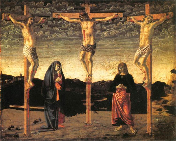 Crucifixion, c.1450 - Andrea del Castagno