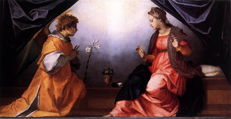 The Annunciation, c.1528 - Andrea del Sarto