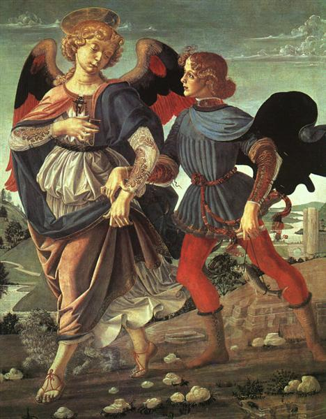 Tobias and the Angel, c.1470 - c.1480 - Андреа Верроккьо