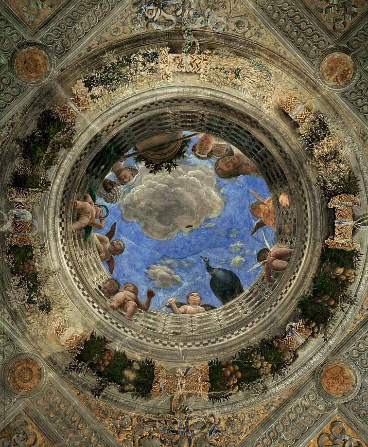 Ceiling of the camera picta or camera degli sposi 1470 for Mantegna camera degli sposi