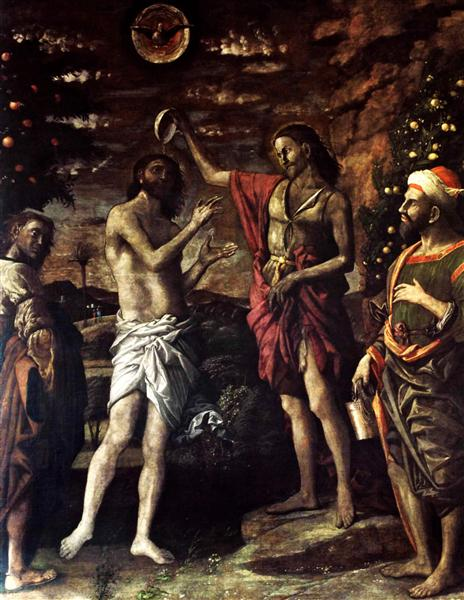 The Baptism of Christ, 1506 - Andrea Mantegna