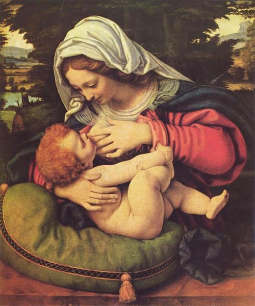 The Virgin of the Green Cushion, 1507 - 1510 - Andrea Solario