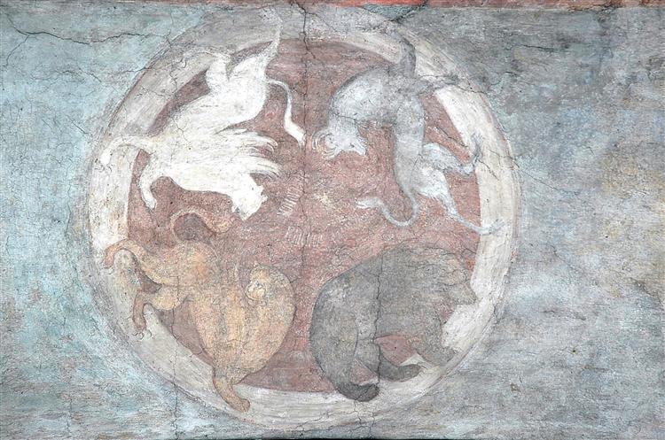 The Last Judgement: Символы четырех царств, 1408 - Andrei Rublev