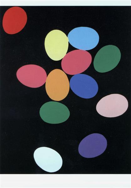 'Eggs' - Andy Warhol, 1982, via WikiPaintings