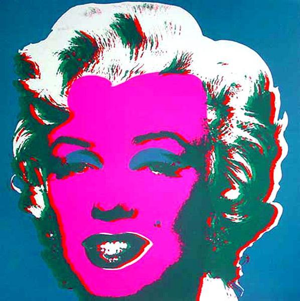 Marilyn Blue, 1967 - Andy Warhol