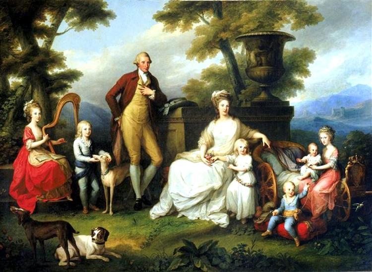 Ferdinand IV of Naples and his family, 1783 - Ангеліка Кауфман