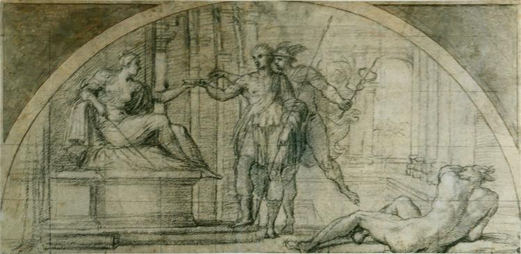 Mercury protecting Ulysses from the charms of Circe, c.1590 - Annibale Carracci