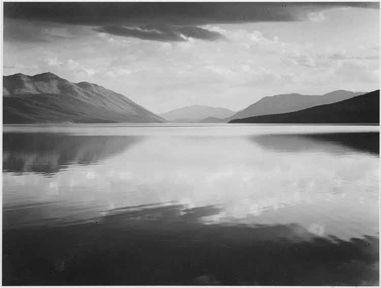 Evening, McDonald Lake, Glacier National Park - Ansel Adams