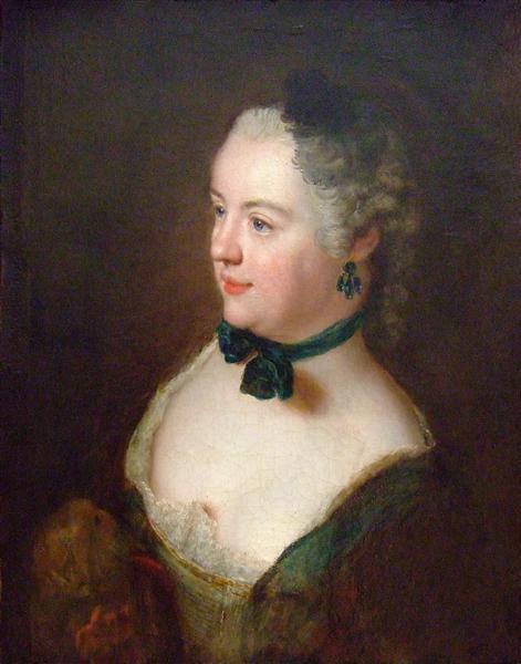 Portrait of an unknown woman, c.1750 - Antoine Pesne
