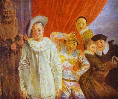 Arlequin, Pierrot and Scapin - Antoine Watteau