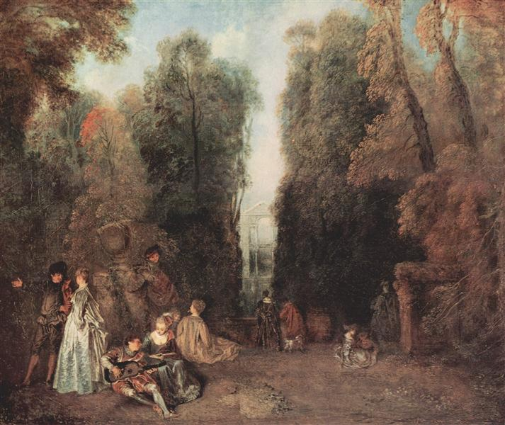 The view, c.1715 - Antoine Watteau