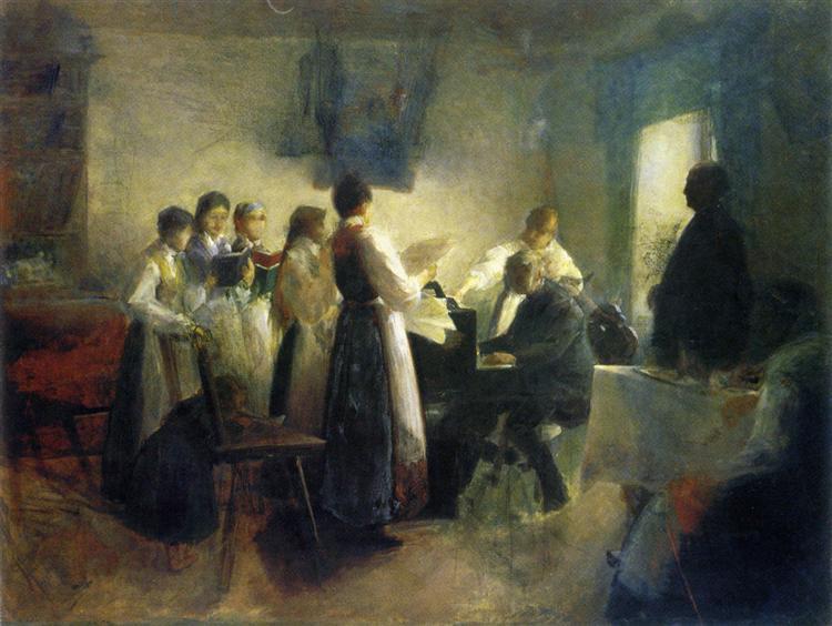 The Village Choir, 1900 - Anton Azbe