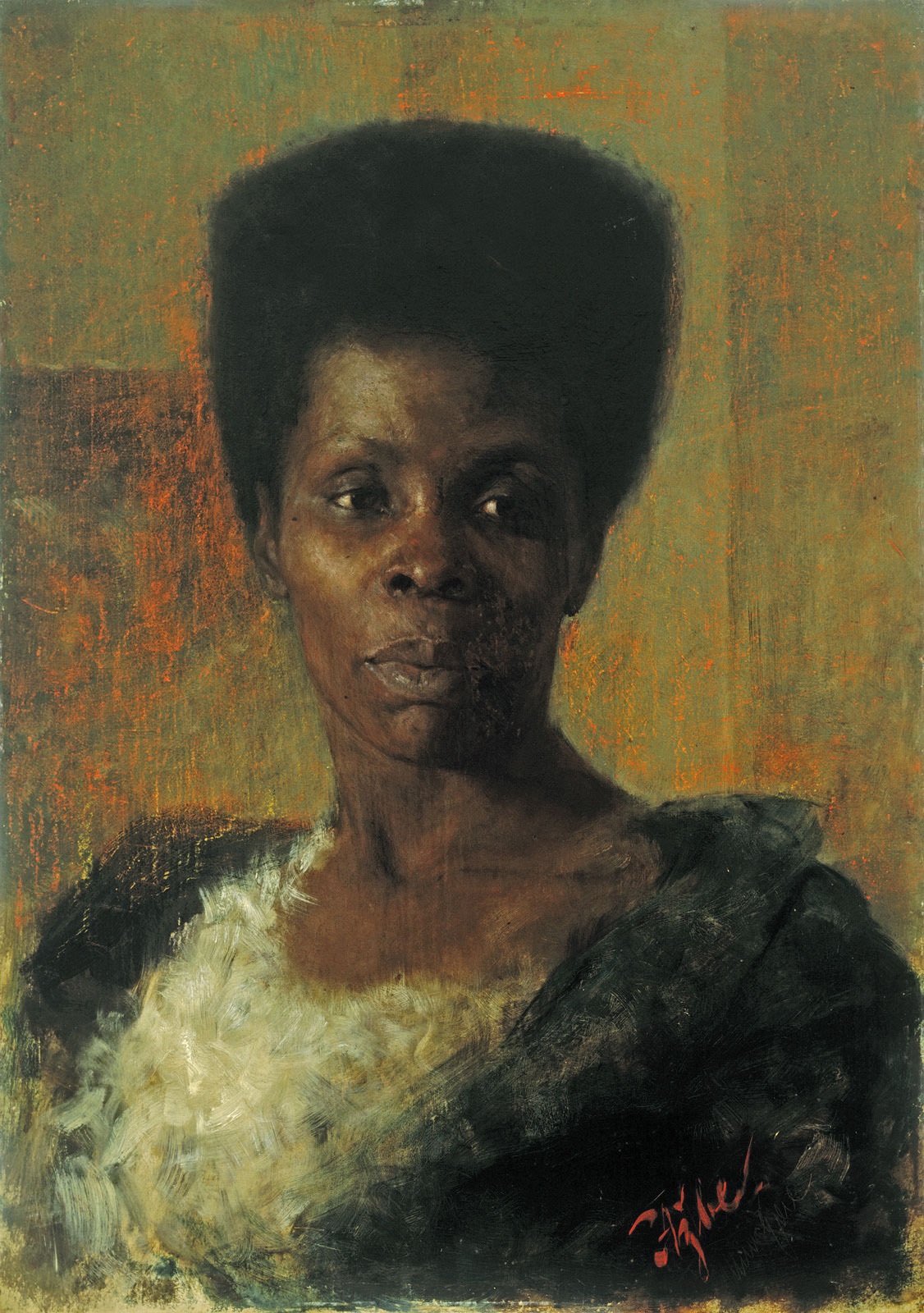 Zamorka Black Girl, 1895 - Anton Azbe - Wikiartorg-1799