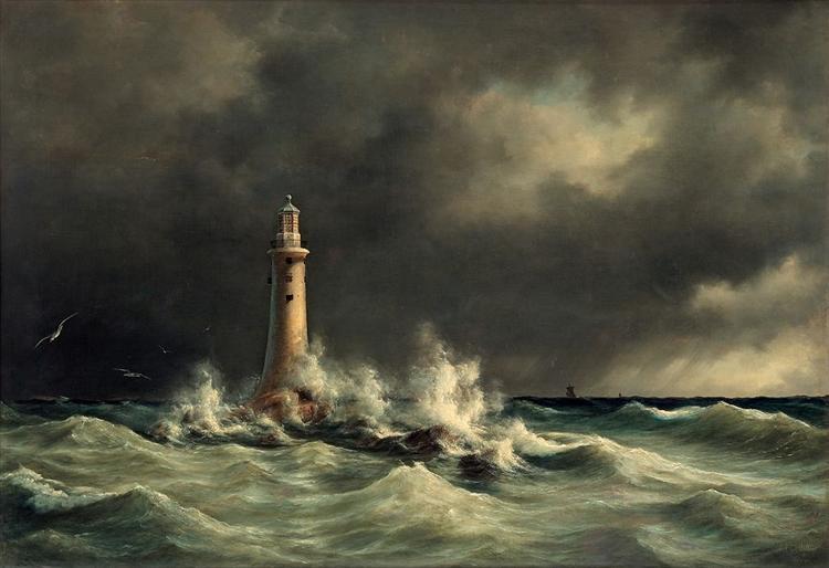 Lighthouse at Stora Bält, 1846 - Anton Melbye