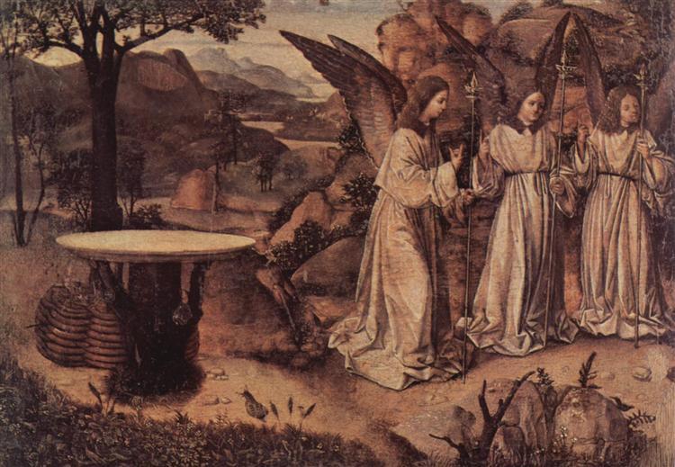 Abraham Served by Three Angels, c.1455 - Antonello da Messina