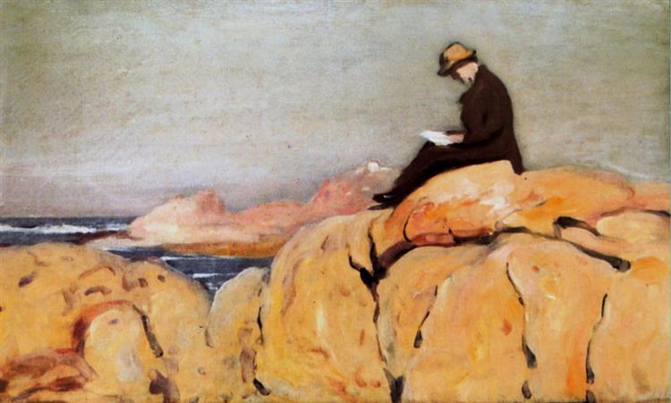 Cláudio nos Rochedos, 1912 - António Carneiro